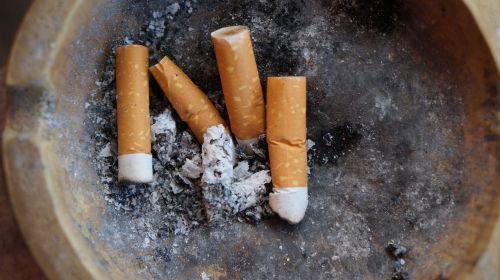 cigarettes ash waste