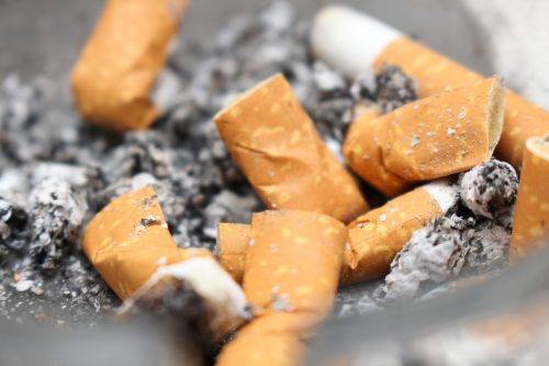 cigarettes ash stub