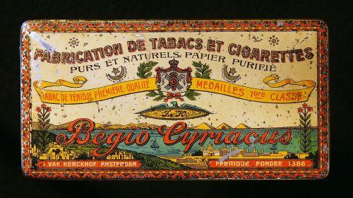 cigarettes box old