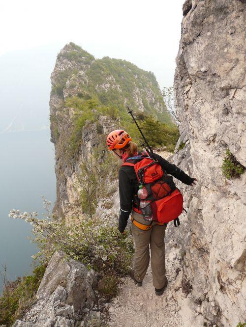 cima capi via ferrata susatti climbing