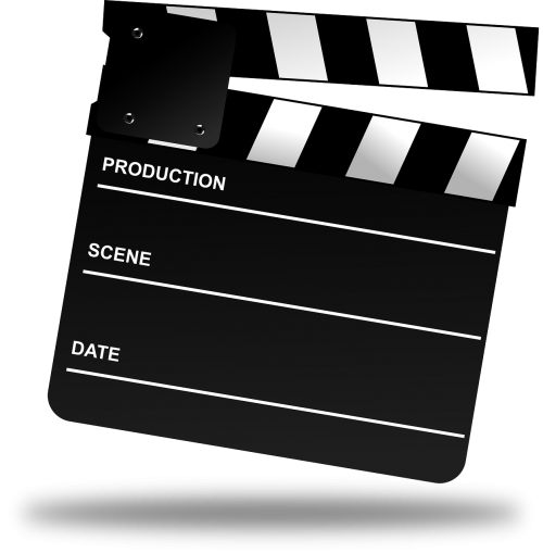 cinema clapboard clapper-board