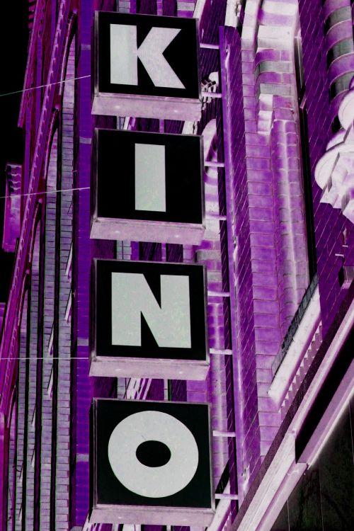 cinema advertisement purple