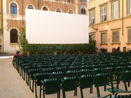cinema film white cloth