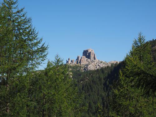 cinque torri five towers mountain