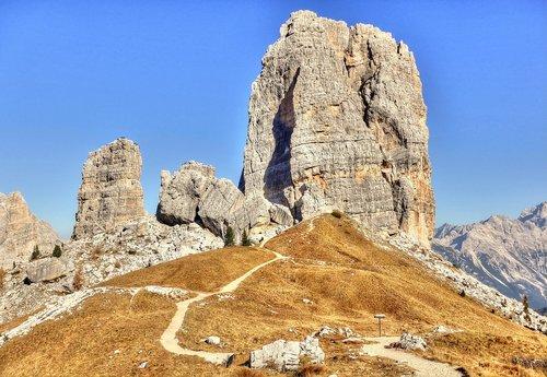 cinque torri  dolomites  mountains
