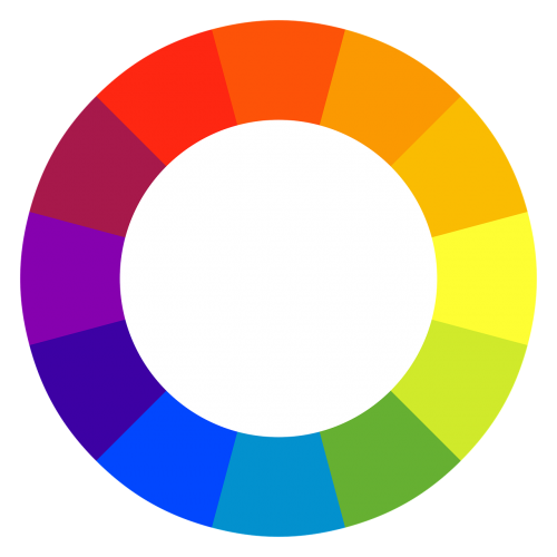 color spectrum circle rainbow color palette