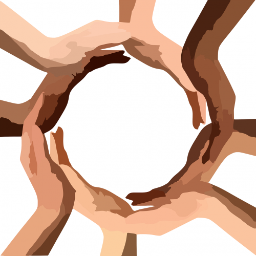circle hands teamwork