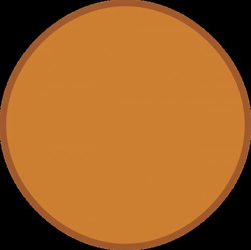 circle round brown