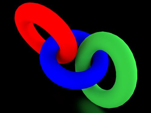 circle  torus  red