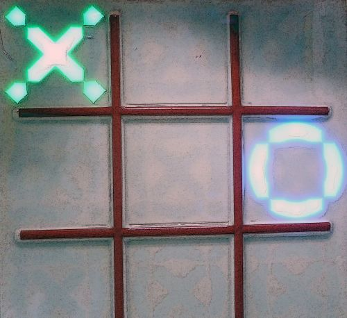 Circle And X In Tic Tac Toe Game