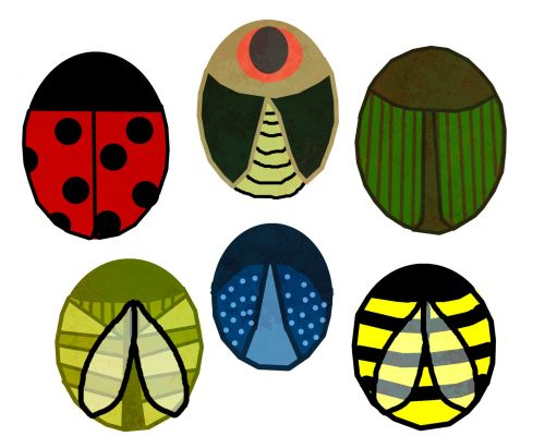 Circle Insects Clip Art