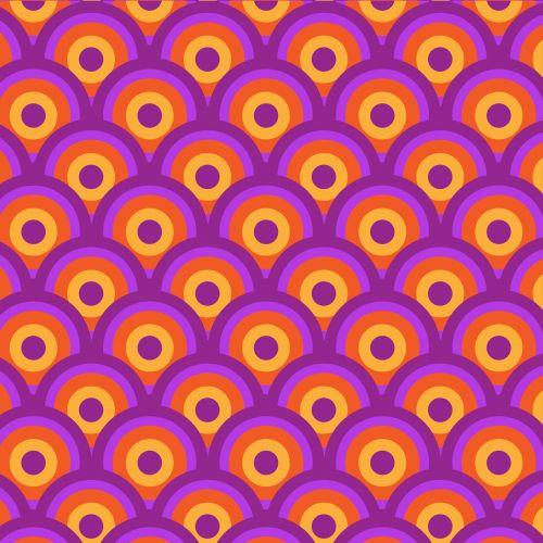 Circles Retro Background