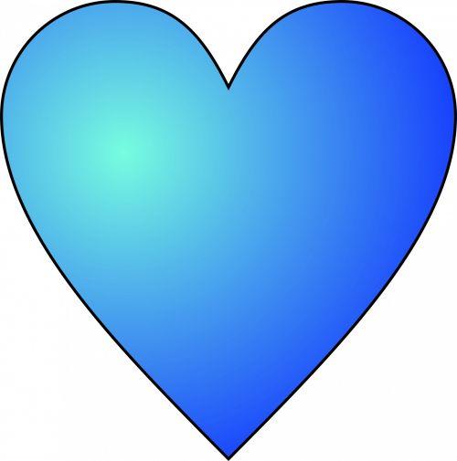 Circular Blue Heart