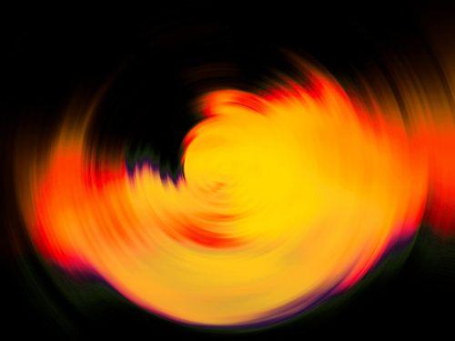 Circular Blur In Yellow