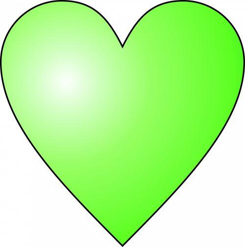 Circular Green Heart