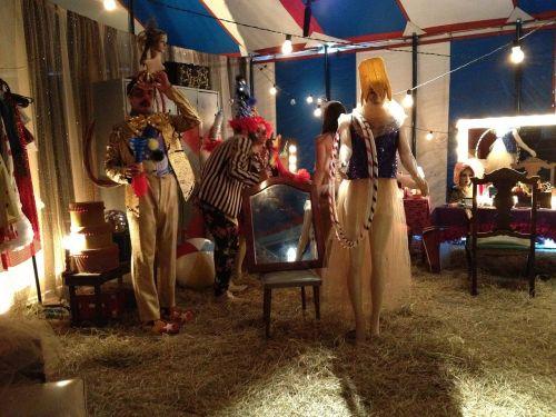 circus dressing-room performer