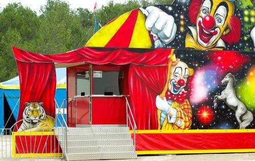 circus clowns marquee
