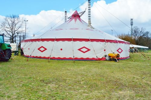circus tent circus in the green
