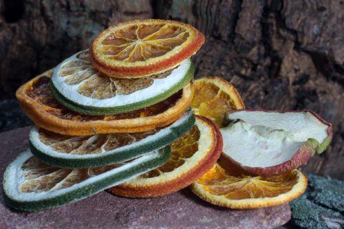 citrus fruits discs dried
