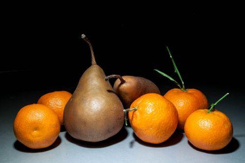 citrus fruits pears still life