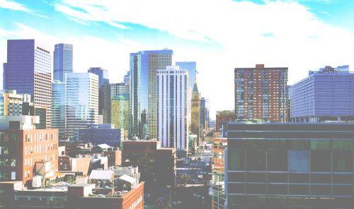 city street skyline