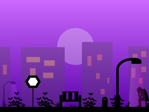 city loneliness night