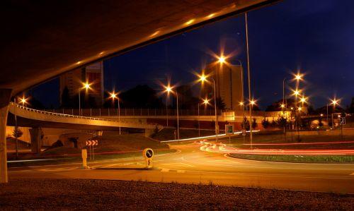city crossroads evening