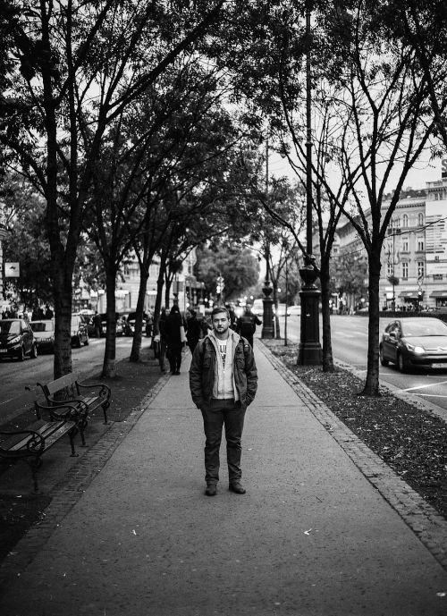 city portrait man