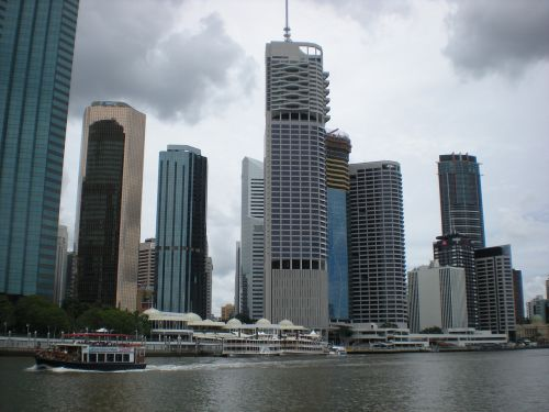 city skyscrapers district