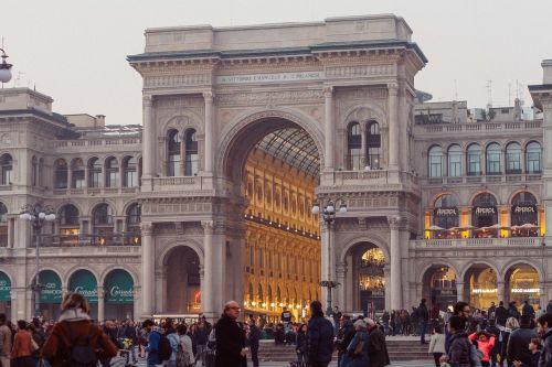 miestas,galerija vittorio emanuele ii,galerija,istorinis pastatas,italy