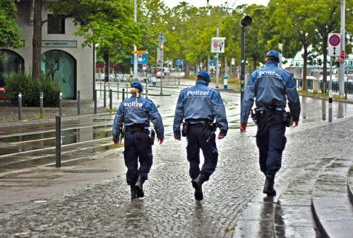 city police street