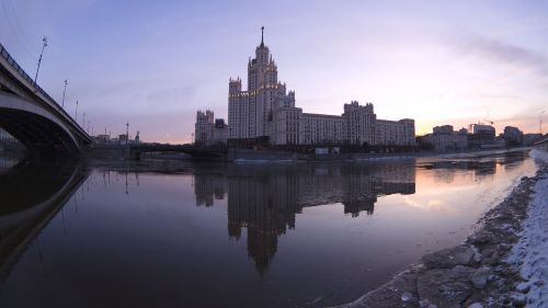 city moscow river