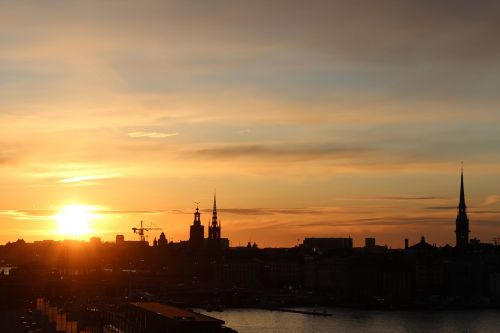 city sunset outlook
