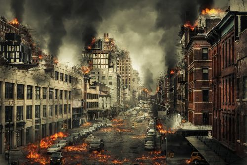 city disaster end of the world