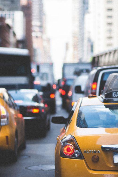 city streets traffic