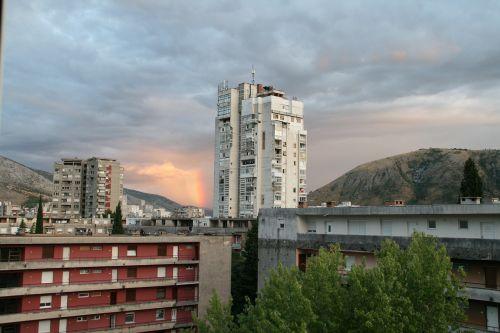 city mostar rainbow
