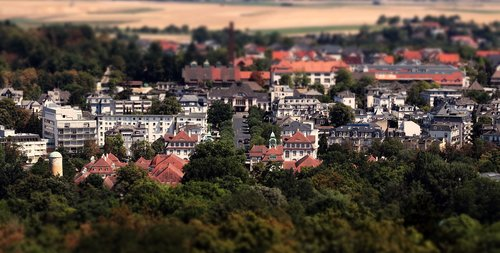 city  bad nauheim germany  tilt shift