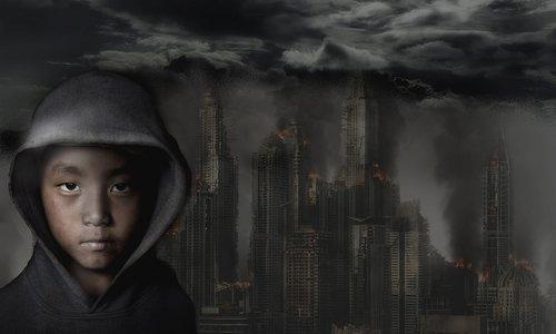 city  destruction  fire