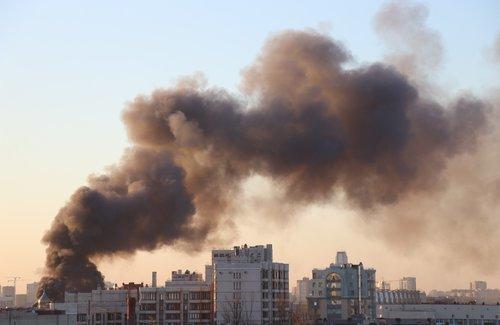 city  fire  smoke