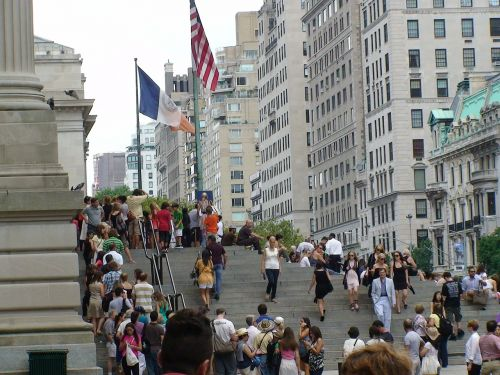 city street stairs