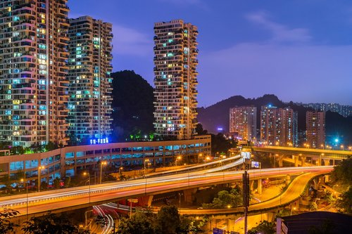 city  night  overpass