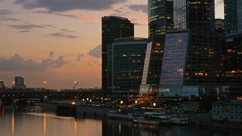 city moscow skyscrapers