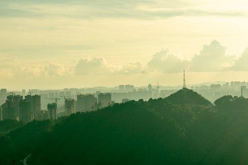 city  cityscape  haze