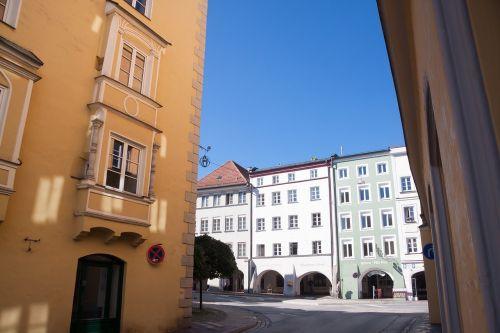 miestas,namai,Lauko langas,isserburgas,arcade,renesansas,architektūra,pastatas,bavarija,Vokietija