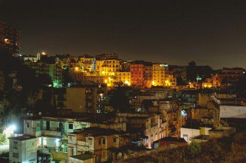 city lights illuminated