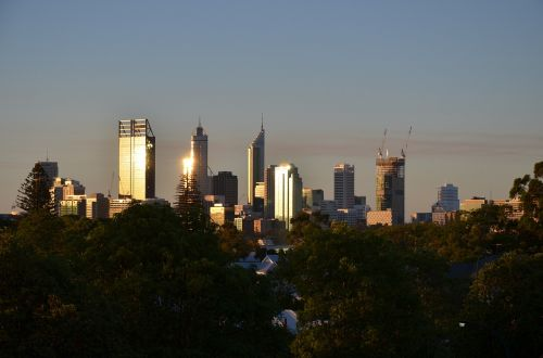 city perth skyline