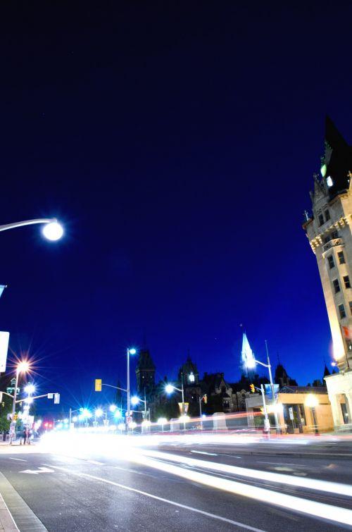 City At Night Light Trails 2