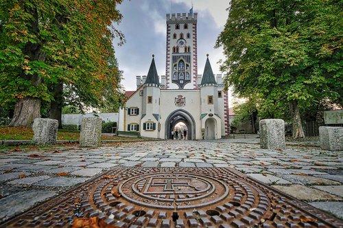 city gate  landsberg  architecture
