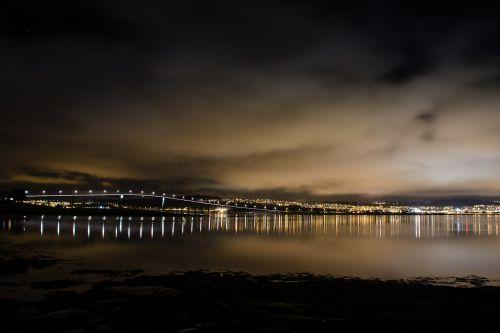 city lights night tromso