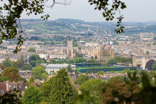 miestas, vonia, miestas & nbsp, pirtis, vaizdas, vaizdingas, Miestas, Anglija, Britanija, uk, kriketo & nbsp, pikis, pastatai, architektūra, miestas su vaizdu į vonią